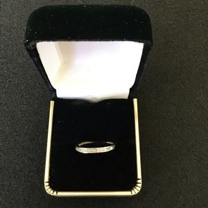 NEW 925 Silver Natural Baguette cut Diamond Ring.